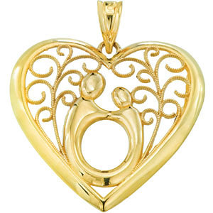 My Heart Mother and Child Pendant
