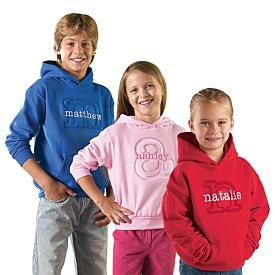 Name and Initial Kids Sweatshirt