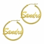 Name Hoop Earrings - Personalized - click to Enlarge