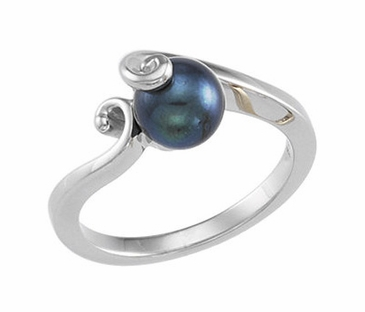 Natural Black Pearl Finger Ring