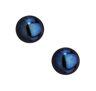 Natural Black Pearl Studs