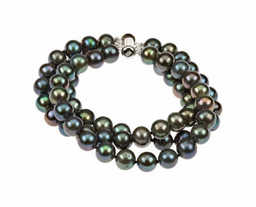 Natural Pearl Bracelet with Three Strands