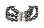 Natural Pearl Bracelet with Three Strands - click to Enlarge
