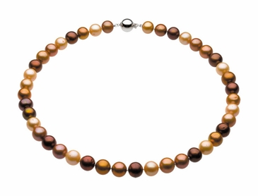 Natural Pearl Necklace or Bracelet in Chocolate Shade