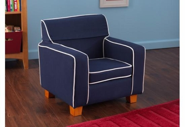 Navy Laguna Chair with Slip Cover