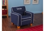Navy Laguna Chair with Slip Cover - click to Enlarge