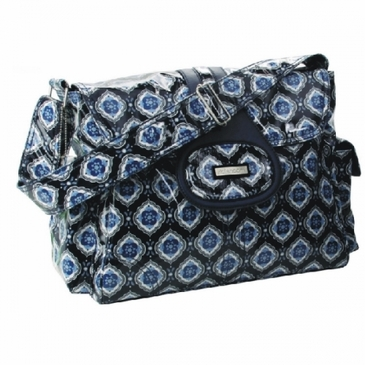 Navy Medallion Elite Diaper Bag by Kalencom
