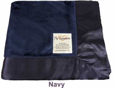 Navy Solid Velour Blanket by My Blankee