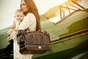 Nest Elliott Leather Diaper Bag in Black (As Seen on Heidi Klum!) - click to Enlarge