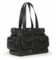 Nest Faux Leather North South Diaper Bag - Black - click to Enlarge