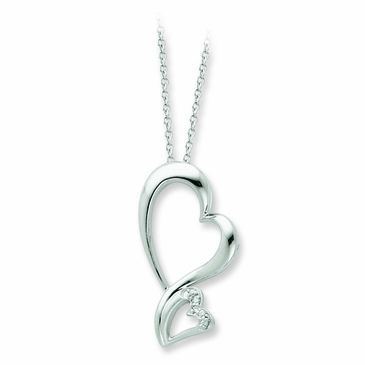 Never Alone Heart Necklace