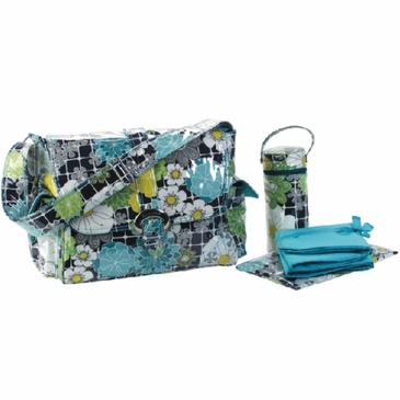 O' Floral Laminated Buckle Diaper Bag by Kalencom