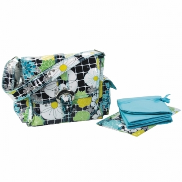 O' Floral Midi Coated Buckle Diaper Bag by Kalencom