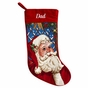 Old-Fashioned Needlepoint Christmas Stockings - click to Enlarge