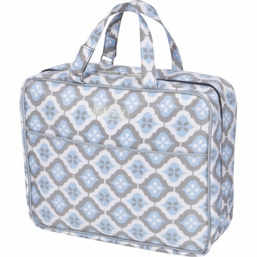 On-the-Go Kit Sky Blue Montage Diaper Bag by Bumble Bags