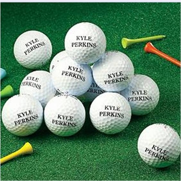 One Dozen Personalized Golf Ball Gift Set