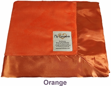 Orange Solid Velour Blanket by My Blankee