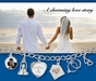 Our Engagement Charm by Forever Charms - Personalized - click to Enlarge