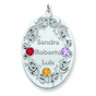 Oval Family Vine Birthstone Pendant - Personalized - click to Enlarge