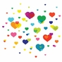 Overlapping Heart Peel & Place Wall Art - click to Enlarge