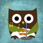 Owl Band Crooner Stretched Art by Dish and Spoon