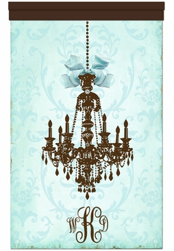 Parisian Chandelier Coco Sarcelle Wall Hanging Personalized by Dish and Spoon
