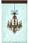 Parisian Chandelier Coco Sarcelle Wall Hanging Personalized by Dish and Spoon - click to Enlarge