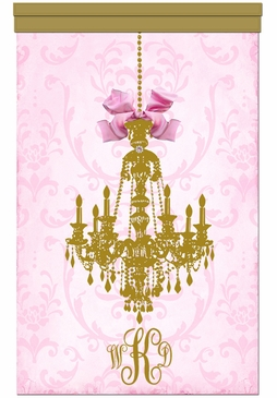 Parisian Chandelier Gilded Framboise Wall Hanging Personalized by Dish and Spoon