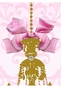 Parisian Chandelier Gilded Framboise Wall Hanging Personalized by Dish and Spoon - click to Enlarge