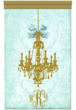 Parisian Chandelier Gilded Sarcelle Wall Hanging Personalized by Dish and Spoon