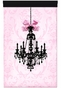 Parisian Chandelier Licorice Framboise Wall Hanging Personalized by Dish and Spoon - click to Enlarge