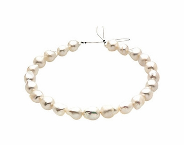PaspaleyNatural Fine Quality White Pearl Strand
