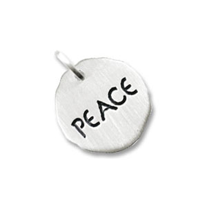 Peace Tag Charm by Forever Charms - Personalized