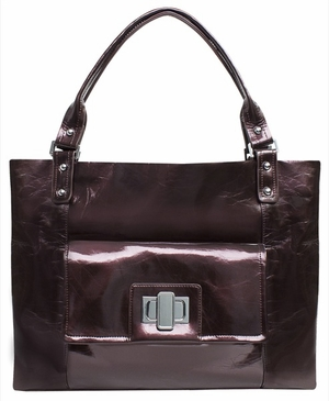 Pearlized Chocolate Cosmo Baby Bag by Amy Michelle