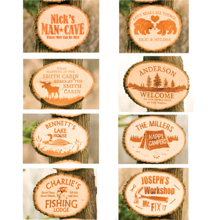 Personalized Basswood Hanging Plaques - Includes FREE GIFT