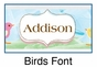 Personalized Birds Picture Frame - click to Enlarge