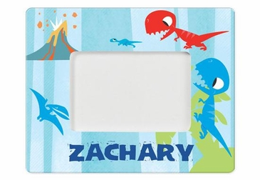 Personalized Blue Dinosaur Picture Frame