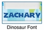 Personalized Blue Dinosaur Picture Frame - click to Enlarge