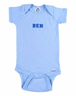 Personalized Boy Blue Onesie