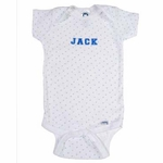 Personalized Boy Stars White Onesie