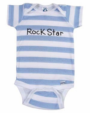 Personalized Boy Thick Stripe Onesie