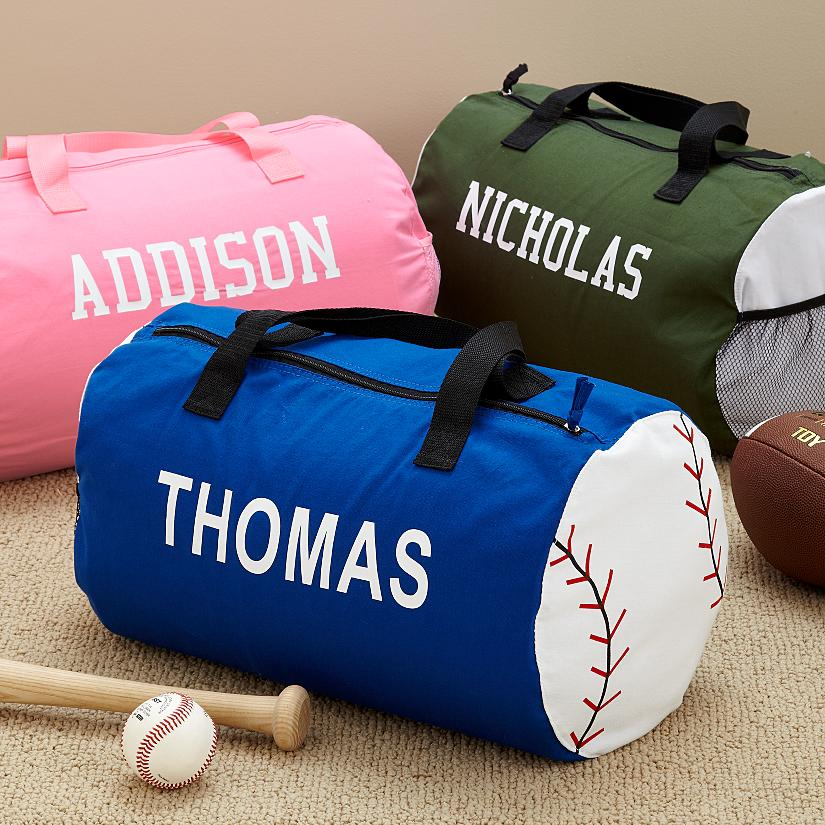 c49c8714f0a5 Personalized Canvas Sports Kids Duffel Bag
