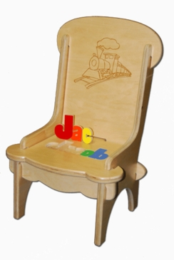Personalized Child's First Puzzle Chair Train