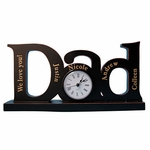 Personalized Dad Family Clock