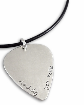 Personalized Daddy Guitar Pick Necklace