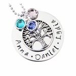 Personalized Family Tree Necklace (up to 4 names)