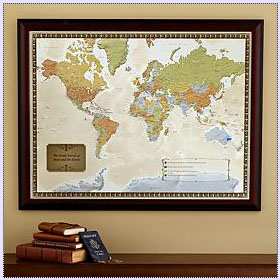 Personalized Framed World Map