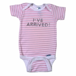 Personalized Girl Thick Striped Onesie - With Crystal Studs