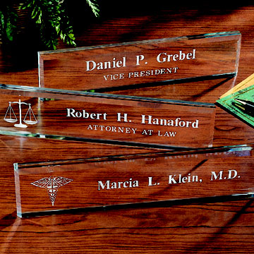 Personalized Glass Nameplates