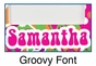 Personalized Groovy Picture Frame - click to Enlarge